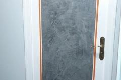 Peinture satinée et chaux ferrée