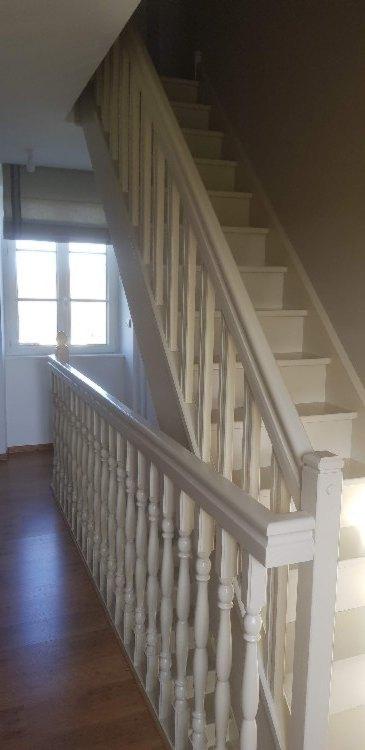Peinture laquée sur escalier